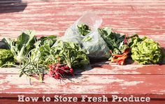 what to do with your fresh produce by @just a girl Kitchen