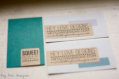 New DIY Business Cards | Hey Love Designs