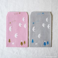 ai. Paper Pocket/Envelope {Bird} | UGUiSU Online Store