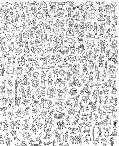 cherche et trouve - chez Camille Doodle Drawings, Doodle Art, Stick Figure Drawing, Stick N Poke Tattoo, French Classroom, Hidden Pictures, French Immersion, Stick Figures, Mini Tattoos