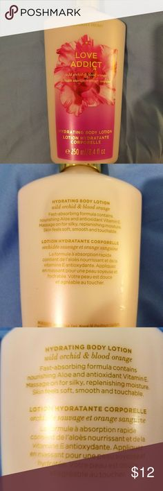 VICTORIA'S SECRET *LOVE ADDICT* BODY LOTION. VICTORIA'S SECRET *LOVE ADDICT* HYDRATING BODY LOTION.  - NON SMOKING HOME.  - NEVER BEEN OPENED.  - ORIGINAL TAGS.  - SIZE: 250ML / 8.4OZ.  - (WILD ORCHID & BLOOD ORANGE). - NO TRADES PLEASE. Victoria's Secret Other