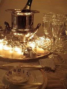 An Elegant and Timeless Tablescape for New Year's Eve……..