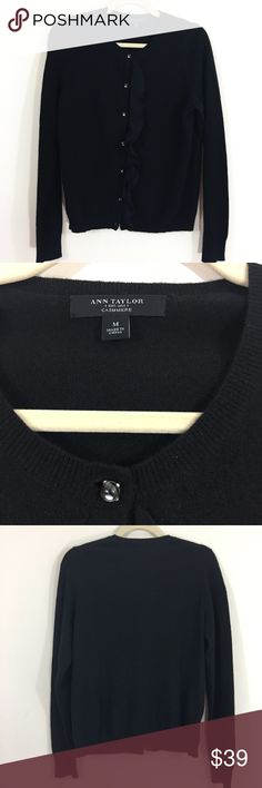 Ann Taylor Cashmere Cardigan This sweater is 100% Cashmere. It is super soft! And chic. The last button is missing. Ann Taylor Sweaters Cardigans