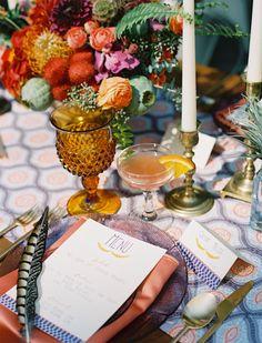 Cristalería colores bodas 5 ambar amarillo bohemio