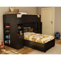 South Shore Logik Twin over Twin L-Shaped Bunk Bed with Desk | AllModern - $715