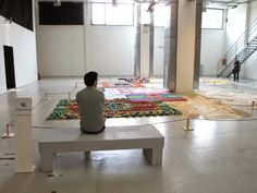 Kneeling: Five Years of Incredibly Creative Carpets Made from Everyday Materials | Junkculture