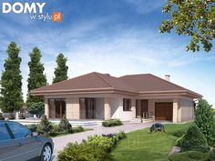Neptun 5 projekt domu - Jesteśmy AUTOREM - DOMY w Stylu Modern Family House, Modern Bungalow House, Family House Plans, Home Design Floor Plans, Home Building Design, Building A House, Tuscan House Plans, Modern House Plans, House Plans South Africa