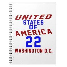 #United States Of America 22 Washington D.C. Notebook - #giftidea #gift #present #idea #number #22 #twenty-two #twentytwo #twentysecond #bday #birthday #22ndbirthday #party #anniversary #22nd