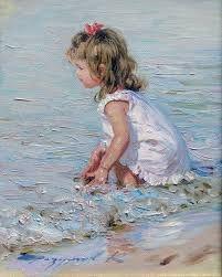 ☀️The Beach ~ Artist Konstantin Razumov, 1974 ~ Impressionist painter Art Plage, Paintings I Love, Oil Paintings, Impressionist Paintings, Indian Paintings, Abstract Paintings, Landscape Paintings, Beach Scenes, Beach Art
