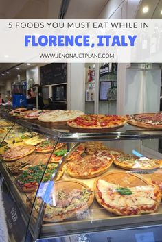 5 foods you must eat while in Florence, Italy, including pizza! There is so much good food to eat in Florence that it's hard to know where to start, this guide will point you towards the most delicious must-haves. Save to your travel board for future refe