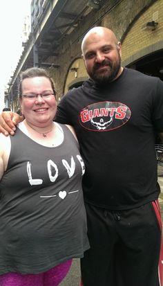 Good day Toni & Laurence UK Strongest Man #strongwoman #strongman @fitnesschrysalis & @wanderinglifter
