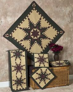 Feathered star Quilts | Choices Quilts offers Feathered star Quilts handmade for you! You can shop online or call us toll-free @ 1-800-572-2070 or 770-641-9700.: