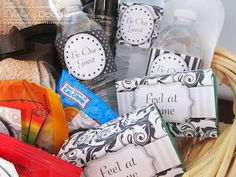 Welcome Guest Basket with printables!