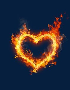 Heart-shaped Fire PNG - Free Download