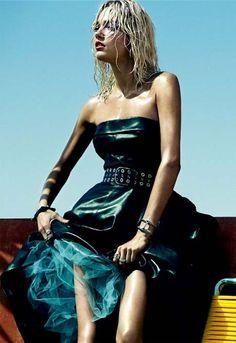 """Karmen Pedaru by Greg Kadel for Vogue Spain"""