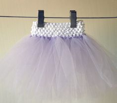 a tutu made with a crocheted headband