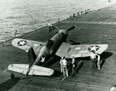 A World war II Chance-Vought F4U-1 Corsair of Fighting Squadron (VF) 10 spotted on the flight deck of the aircraft carrier USS Enterprise (CV-6) on March 20, 1943, seventy years ago today. The Corsair served in the U.S. Navy, U.S. Marines, Fleet Air Arm and the Royal New Zealand Air Force, and other, smaller, air forces until the 1960s. It quickly became the most capable carrier-based fighter-bomber of World War II. Some Japanese pilots regarded it as the most formidable American fighter