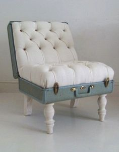 Upcycled suitcase armchair.