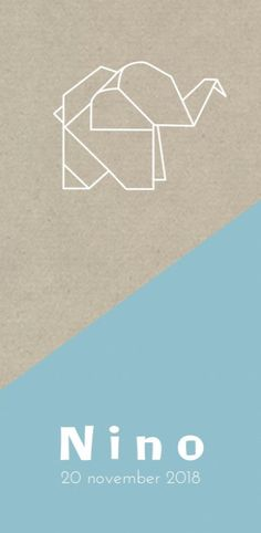 Geboortekaartje origami olifantje voor Luxury Business Cards, Baby Invitations, 3 In One, Nursery Art, Baby Room, Doodles, Baby Announcements, Lettering, Embroidery