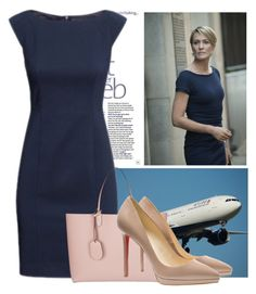 House of Cards - Claire Underwood by ivanoe on Polyvore featuring polyvore, fashion, style, Christian Louboutin, Gucci and clothing