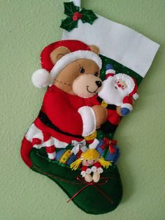 Your place to buy and sell all things handmade Christmas Stocking Kits, Felt Christmas Stockings, Felt Stocking, Christmas Poinsettia, Felt Christmas Ornaments, Christmas Star, Christmas Crafts, Christmas Decorations, Xmas