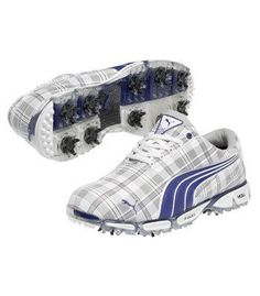 Super Cell Fusion Ice Le Golf Shoes Blue Plaid, Blue Plaid, 9.5 Puma. $149.99