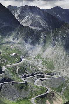 Transfagarasan Highway, Romania. It was appointed World's Best Road by Top Gear presenter Jeremy Clarkson.