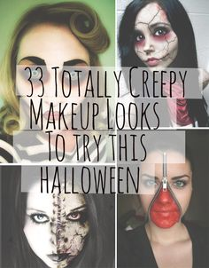 33 Totally Creepy Makeup Looks To Try This Halloween.