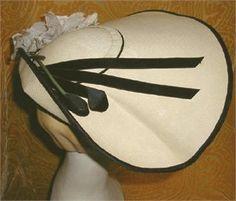 John Frederics Hat,New Look Era Fashion, Vintage Hat,Haute Couture Millinery   Rue de la Paix