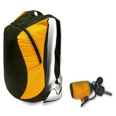 Ultra-Sil Day Pack from Sea to Summit $29.95 Packs down to keychain size? What!?