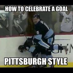 How to celebrate Pittsburgh penguins style