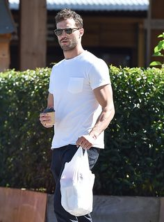 """""""I'm slowly approaching 35 and that's visible on a body That doesn't mean I watch myself anxiously I just wanna be healthy&fit"""" #JamieDornan   Jamie Dornan in Cotswolds (27-08-16)"""