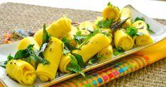 Gujarati Khandvi Recipe in Hindi Indian Food Recipes, Diet Recipes, Healthy Recipes, Ethnic Recipes, Healthy Food, Indian Snacks, Khandvi Recipe, Longevity Diet, Cooking Appliances