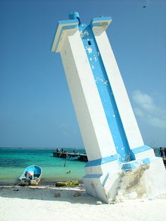 PUERTO MORELOS, MEXICO...LEANING LIGHTHOUSE...http://www.traveltimes.com.mx/secretos/index.php?option=com_content&view=article&id=112%3Apuerto-morelos-cautiva-por-su-belleza&catid=1%3Alatest-news&Itemid=56