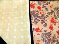 Lot Fabric Swatches Remnants Asian Dragon Pattern Crafting Sewing Quilting