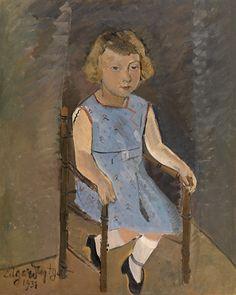 Portret van een kind, 1931 by Edgard Tytgat (Belgian, 1879-1957)  © KMSKA / Lukas-Art in Flanders vzw – foto Hugo Maertens, Aanvullende rechten: Sabam