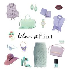 """""""Lilac & Mint in Harmony"""" by tariaudriani ❤ liked on Polyvore featuring Abercrombie & Fitch, Ted Baker, Alberta Ferretti, AMOUAGE, Lime Crime, Rebecca Minkoff, Kate Spade, Decree, Matthew Williamson and Chicwish"""