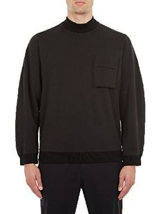 OAMC Black Flight Mock-Neck Sweatshirt The OAMC Flight Mock-Neck Sweatshirt for AW16, seen here in black. - - - Renowned for their unique approach to design, Parisian brand OAMC present this distinctive sweatshirt for AW16. As part of a co http://www.MightGet.com/january-2017-13/oamc-black-flight-mock-neck-sweatshirt.asp
