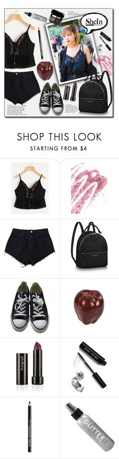"""""""Just a girl"""" by white-moonlight ❤ liked on Polyvore featuring Vivienne Westwood, Obsessive Compulsive Cosmetics, Converse, Bobbi Brown Cosmetics and NYX"""