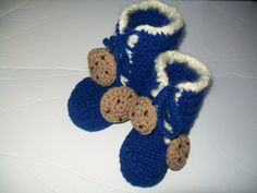 Crochet BOOTS pattern  - Cookie Monster Boots - Crochet Slippers - Children's Character Slippers - Baby booties - Crochet Slipper Boots