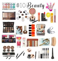 """""""$10 OR Less Beauty"""" by moonlightsilhouette ❤ liked on Polyvore featuring Burt's Bees, River Island, Zoya, Milani, Miss Selfridge, Dove, Urban Spa and 10dollarbeauty"""