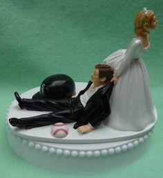 Wedding Cake Topper Chicago White Sox Baseball Sports by WedSet, $59.99