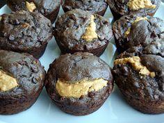 Chocolate Banana Peanut Butter Muffins {Alida's Kitchen}