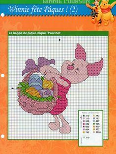 Winnie The Pooh - cross stitch charts Disney Cross Stitch Patterns, Cross Stitch For Kids, Cross Stitch Baby, Cross Stitch Kits, Cross Stitch Charts, Cross Stitch Designs, Cross Stitching, Cross Stitch Embroidery, Winnie The Pooh