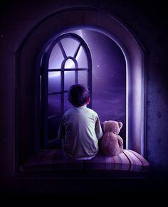 cute artwork for a little boy's room Digital Art by Elena Dudina Purple Haze, Shades Of Purple, Purple And Black, Deep Purple, Double Exposition, Illustrations, Illustration Art, Religion, All Things Purple