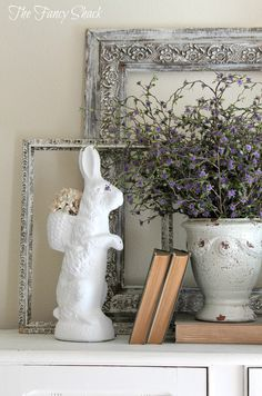 Happy official Spring! 5 days until Easter, are you ready? Today I wanted to share some Easter accents I have in our home this year.  My ch...