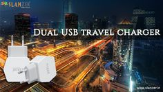 Dual USB Travel Chargers by Slanzer Technology is the ultimate solution to the problem of draining of your phones' battery. The chargers support charging of 2 phones simultaneously through the two USB ports.
