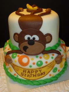 monkey cake, cute for my evil monkey!!