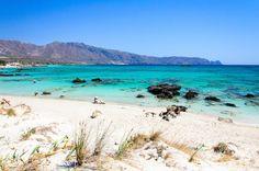 Les plages de la presqu'île d'Elafonissi en Crète