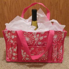 Lovely Thirty-One bag comes with a bottle of wine, two glasses, and a Thirty-One gift certificate!